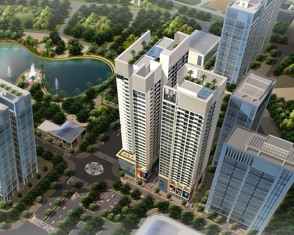 Phối cảnh dự án chung cư Horizon Tower N03 T3 T4