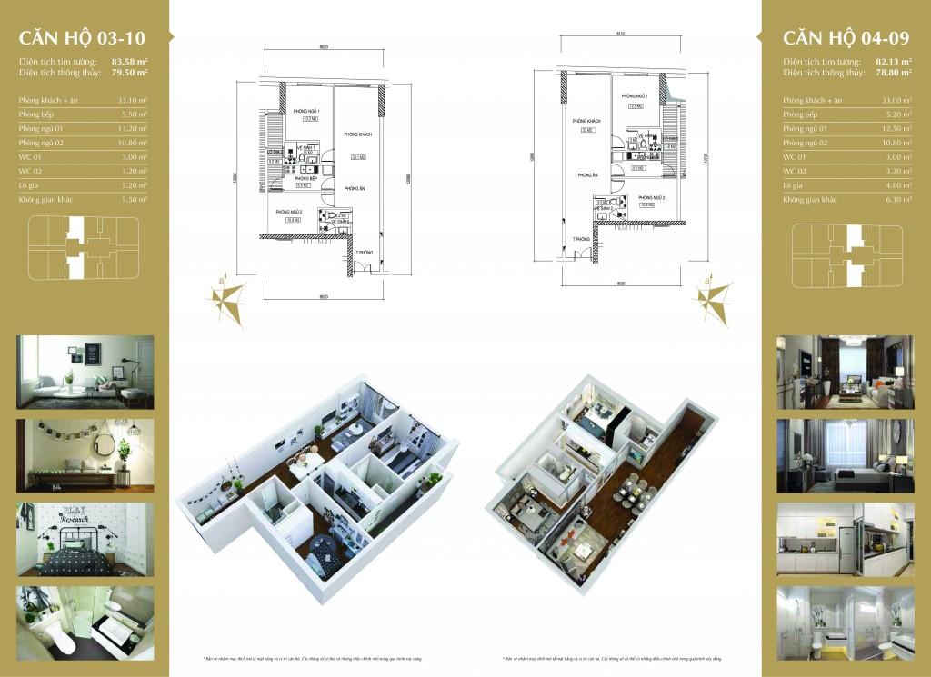 Phối cảnh căn hộ 03-10- và 04-09 dự án Imperial Plaza