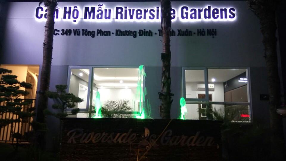 căn hộ mẫu 349 Vũ Tông Phan ban đêm rất đẹp