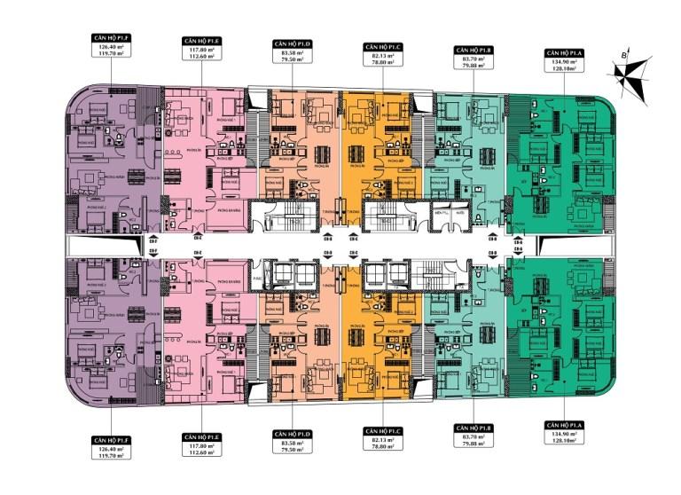 Mặt bằng chung cư 360 Giải Phóng - Imperial Plaza