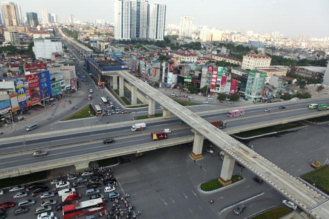 Nút giao Khuất Duy Tiến quận Thanh Xuân rất hiện đại