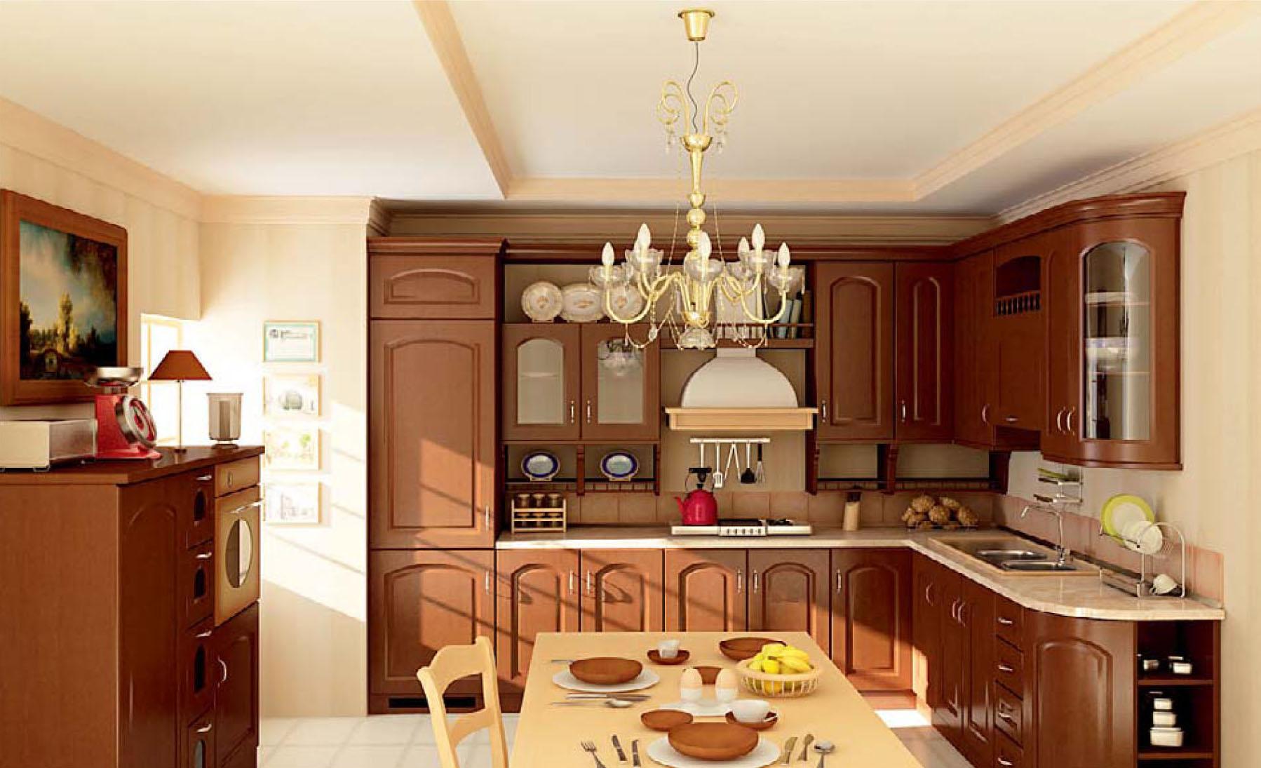 Phòng bếp cổ điển luôn làm hài lòng mọi chủ nhân chung cư
