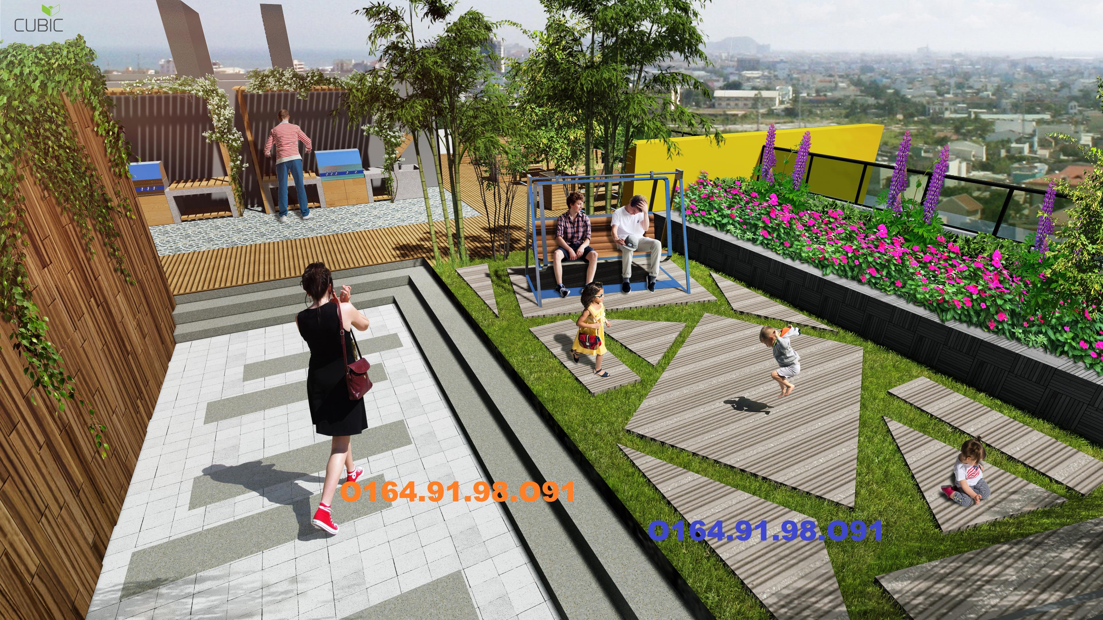 cảnh quan chung cư 349 vũ tông phan sân vườn