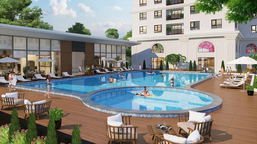 Bể bơi tại Chung cư Eco Lake View 32 Đại Từ