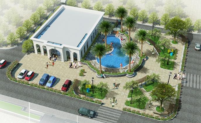 Bể bơi ngoài trời Chung cư Eco City Việt Hưng - Long Biên