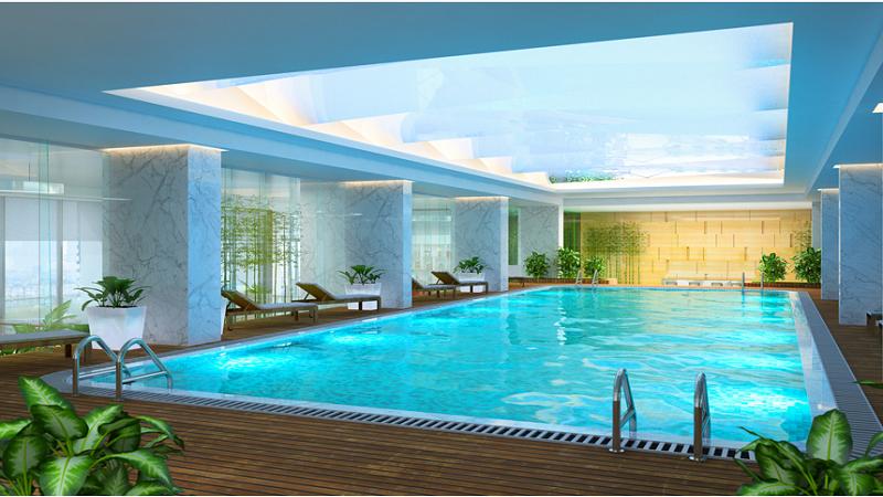 Tiện ích bể bơi ngoài trời chung cư Park View Đồng Phát
