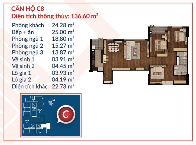 Thiết kế căn hộ C8 - Việt Đức Complex