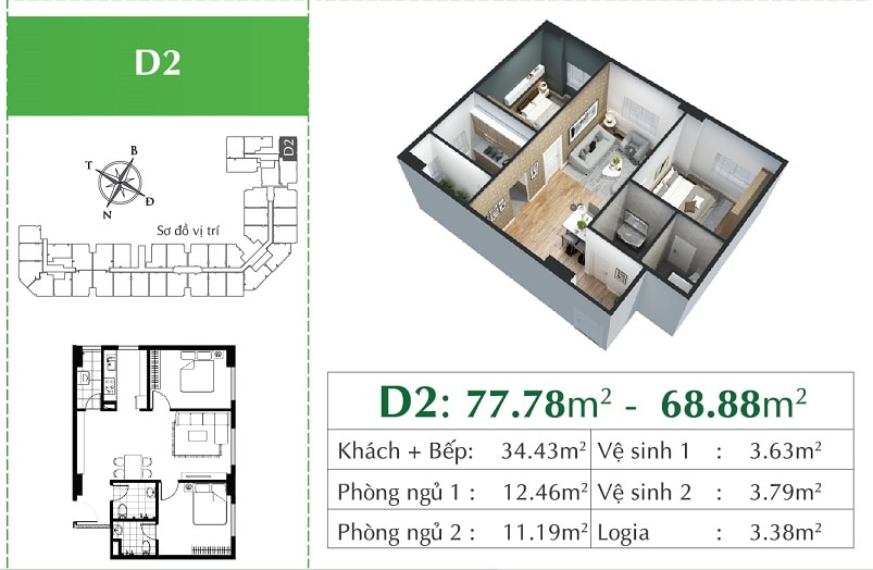 căn D2 Chung cư Eco City Việt Hưng