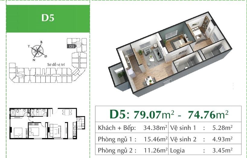 căn D5 Chung cư Eco City Việt Hưng