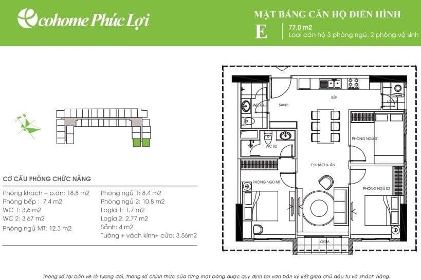 Thiết kế căn hộ E Ecohome Phúc Lợi