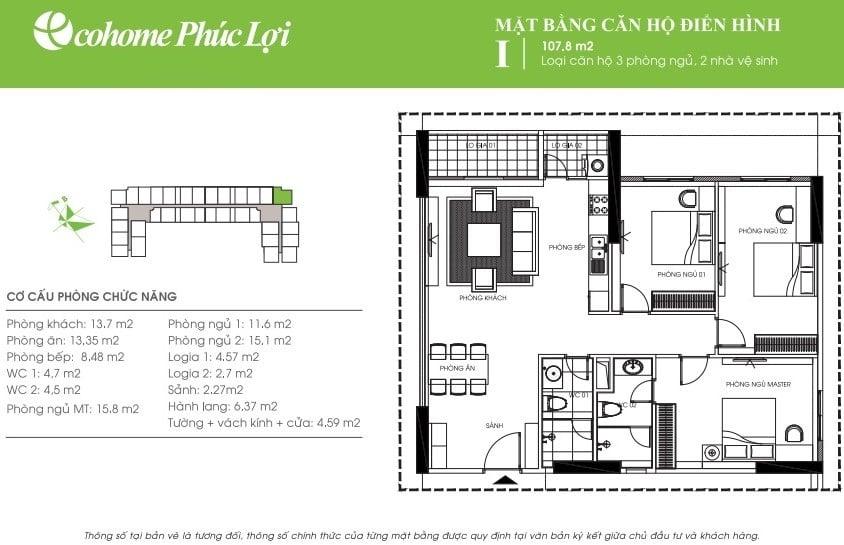 Thiết kế căn hộ I Ecohome Phúc Lợi