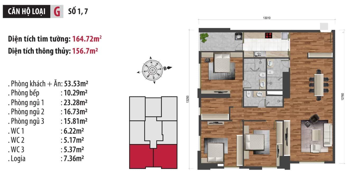 Căn hộ VIP nhất dự án Chung cư Hà Nội Paragon 181 Trần Quốc Vượng 2020