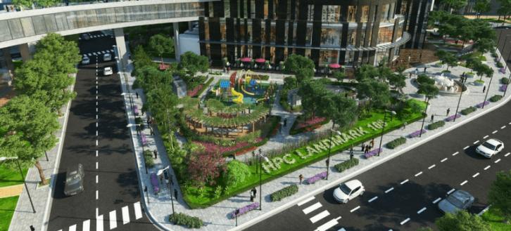 Dự án Chung cư HPC Landmark 105 án ngữ lô góc tiện giao thông