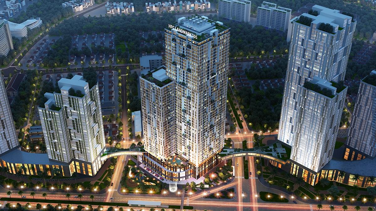 Phối cảnh Dự án Chung cư HPC Landmark 105