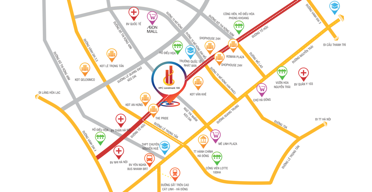 Dự án Chung cư HPC Landmark 105 tọa lạc trung tâm đa tiện ích