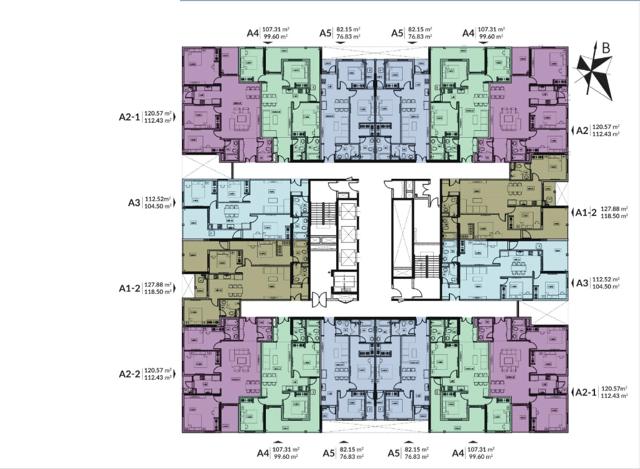 Mặt bằng tầng điển hình Dự án Chung cư HPC Landmark 105