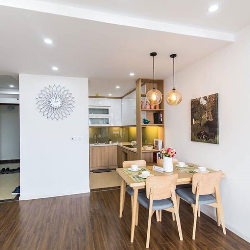 Khu vực bếp và bàn ăn Dự án HPC 105 Hà Đông