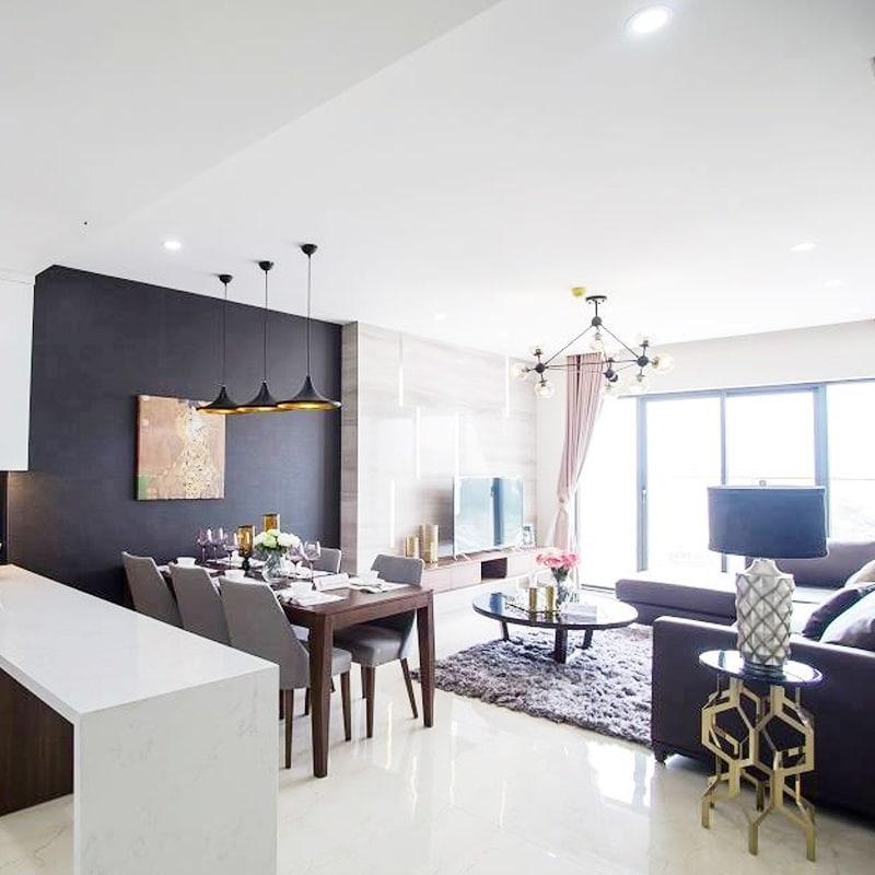 Phòng khách Dự án HPC 105 Hà Đông