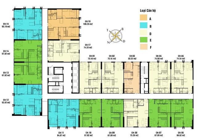 Mặt bằng CT3 chung cư Eco Green City Vành Đai 3