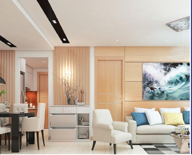 Phòng khách sang trọng chung cư Park View Đồng Phát
