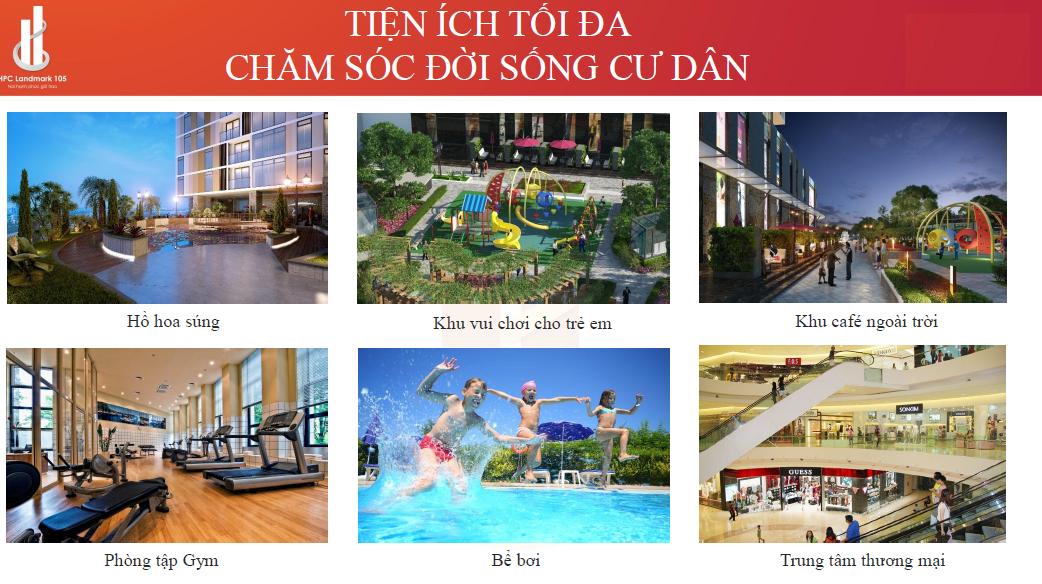 Tiện ích hoàn hảo chung cư HPC Landmark 105 Tố Hữu - Hà Đông