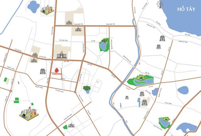 Vị trí đắc địa ngay khu phố sầm uất Duy Tân chung cư Hà Nội Paragon Cầu Giấy