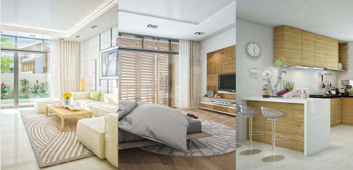 Nội thất cao cấp, căn hộ tràn ngập ánh sáng tự nhiên tại FLC Green Home