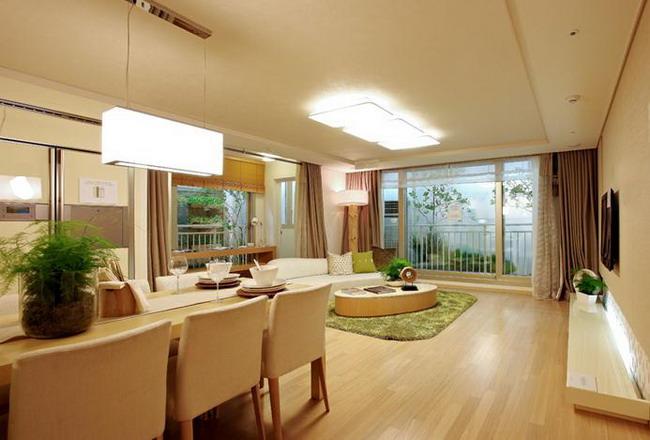 Phòng khách sang trọng tại FLC Green Home