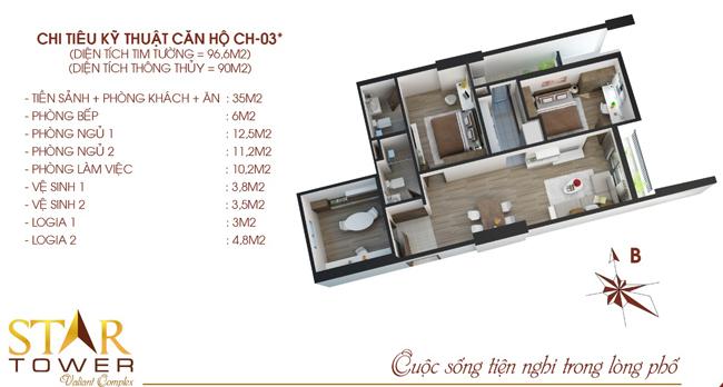Căn 8-03 được chọn làm Nhà Mẫu trên căn hộ thực tế tại chung cư 283 Khương Trung