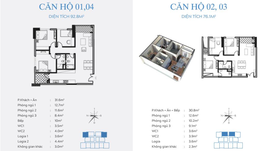 Thiết kế căn hộ Chung cư Trung Yên Smile Building Định Công Đại Kim