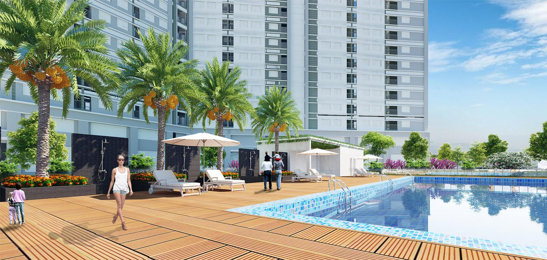 Tiện ích bể bơi xác lập phân khúc cao cấp của Chung cư Xuân Mai Complex