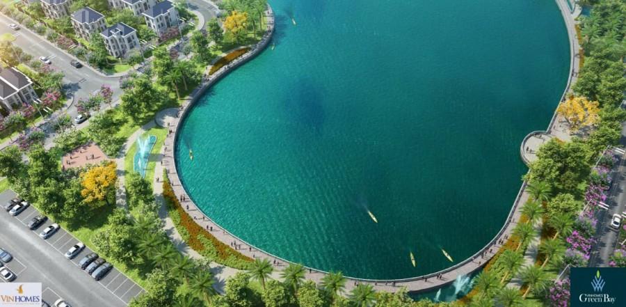 Tiện ích trung tâm - hồ điều hòa rộng 8 ha. Không gian xanh của Vịnh