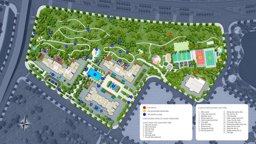 Mặt bằng khu chung cư cao tầng G1 - G2 - G3 dự án Vinhomes Green Bay Mễ Trì