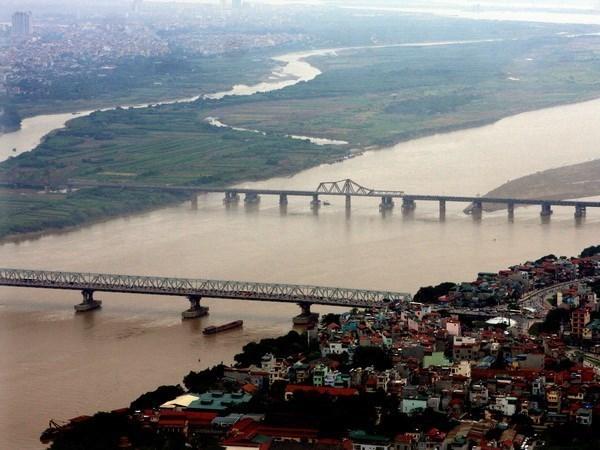 view Sông Hồng từ Northern Diamond Ngọc Phương Bắc