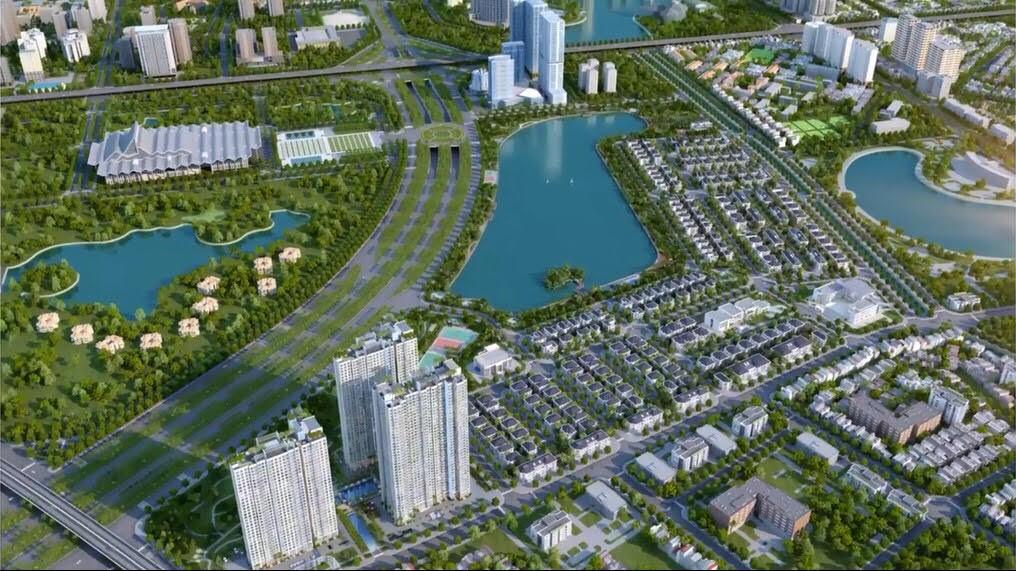 Phối cảnh khu chung cư cao tầng dự án