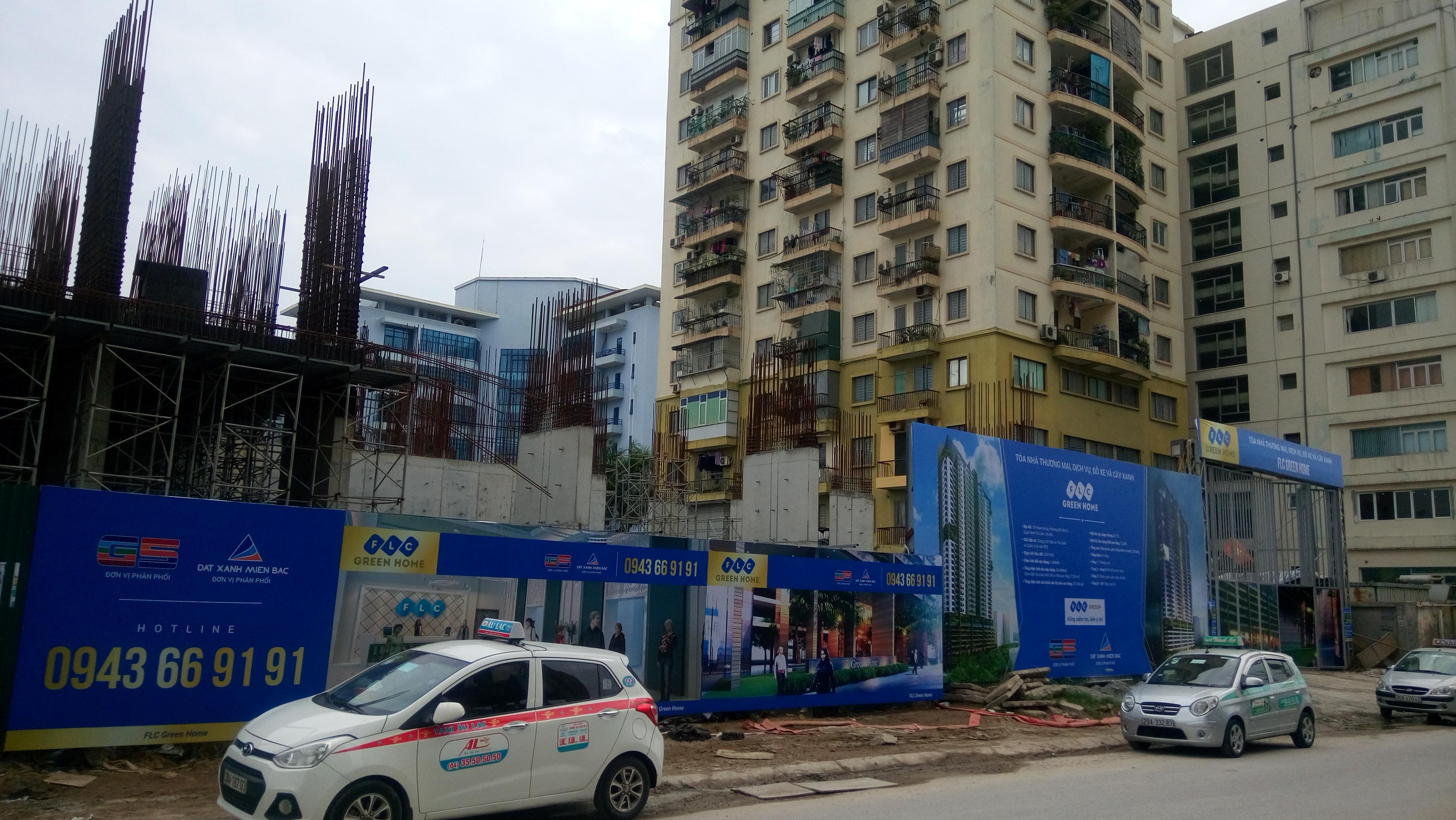 Tiến độ thi công chung cư FLC Green Home 18 Phạm Hùng