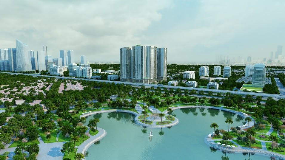 Dự án The Manor Central Park Nguyễn Xiển hướng ra công viên Chu Văn An