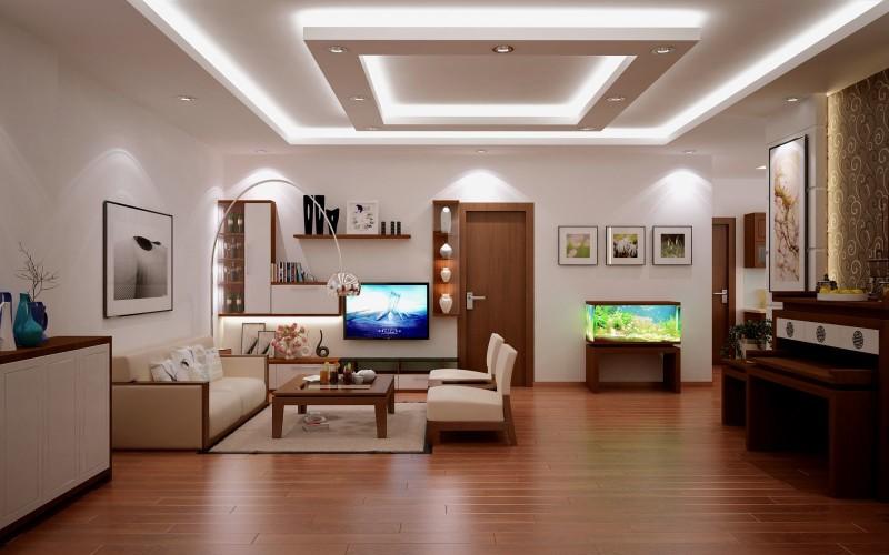 Phòng khách hiện đại sang trọng tại Golden Land 275 Nguyễn Trãi