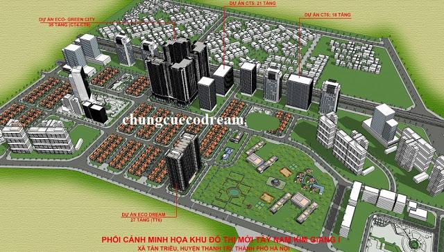 Vị trí Chung cư Eco Dream trong KĐT Tây Nam Kim Giang