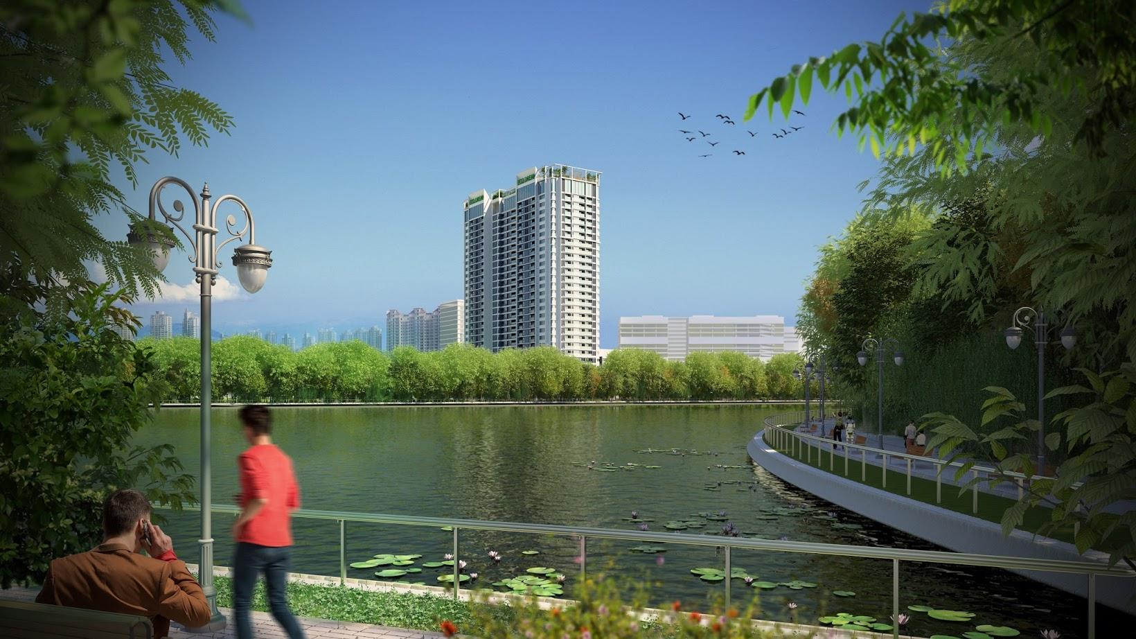 Chung cư Eco Dream City bao bọc không gian Xanh
