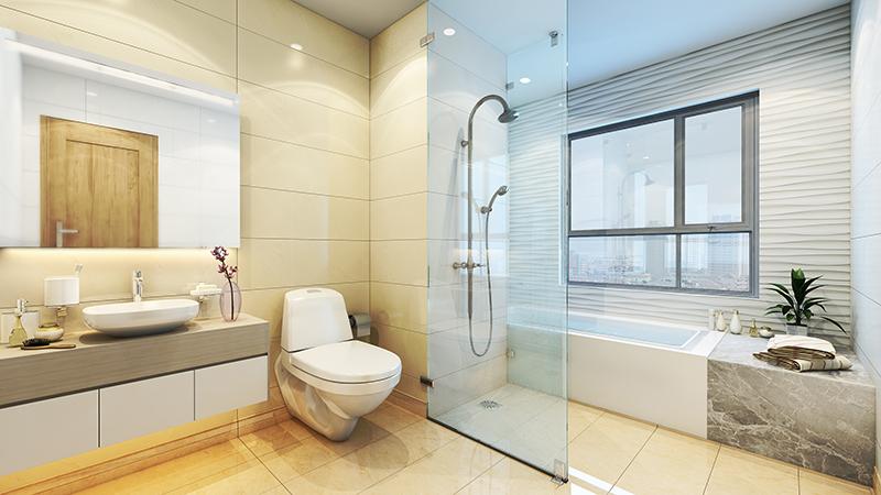 Phòng tắm chung cư 275 Nguyễn Trãi Golden Land