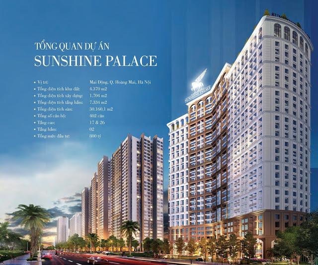 Ra mắt đợt đầu tiên Siêu dự án Sunshine Palace - Căn hộ Khách sạn 5*
