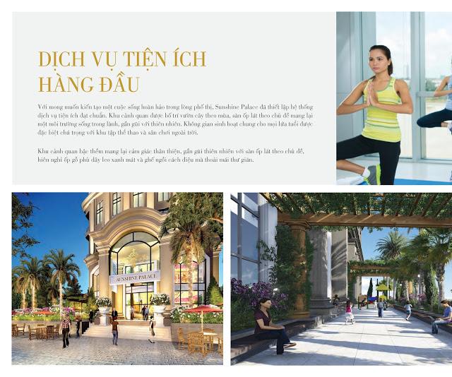 Chung cư Sunshine Palace có tiện ích cao cấp phong phú