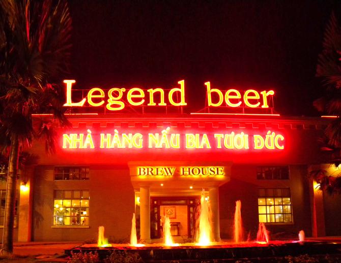 Bia tươi Legend được thực khách Đức hâm mộ đang có mặt tại Việt Nam