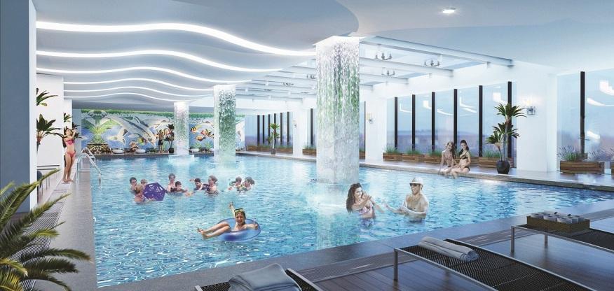Bể bơi trong nhà tại Chung cư The Legend 109 Nguyễn Tuân