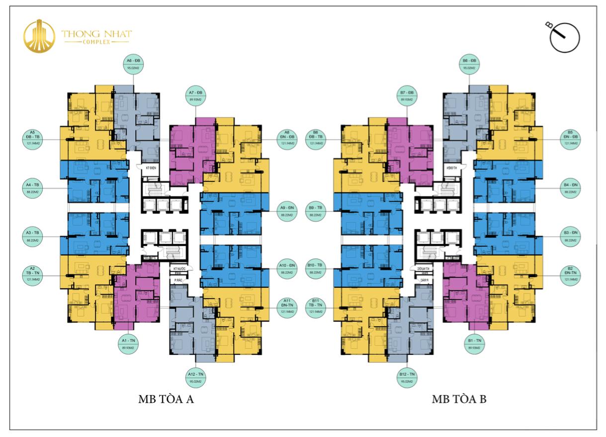 Mặt bằng dự án Chung cư Thống Nhất Complex