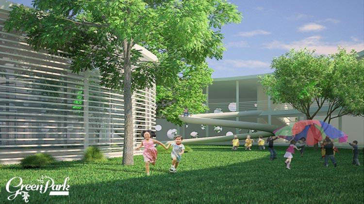 Môi trường trong lành xanh mát tại CT15 Việt Hưng