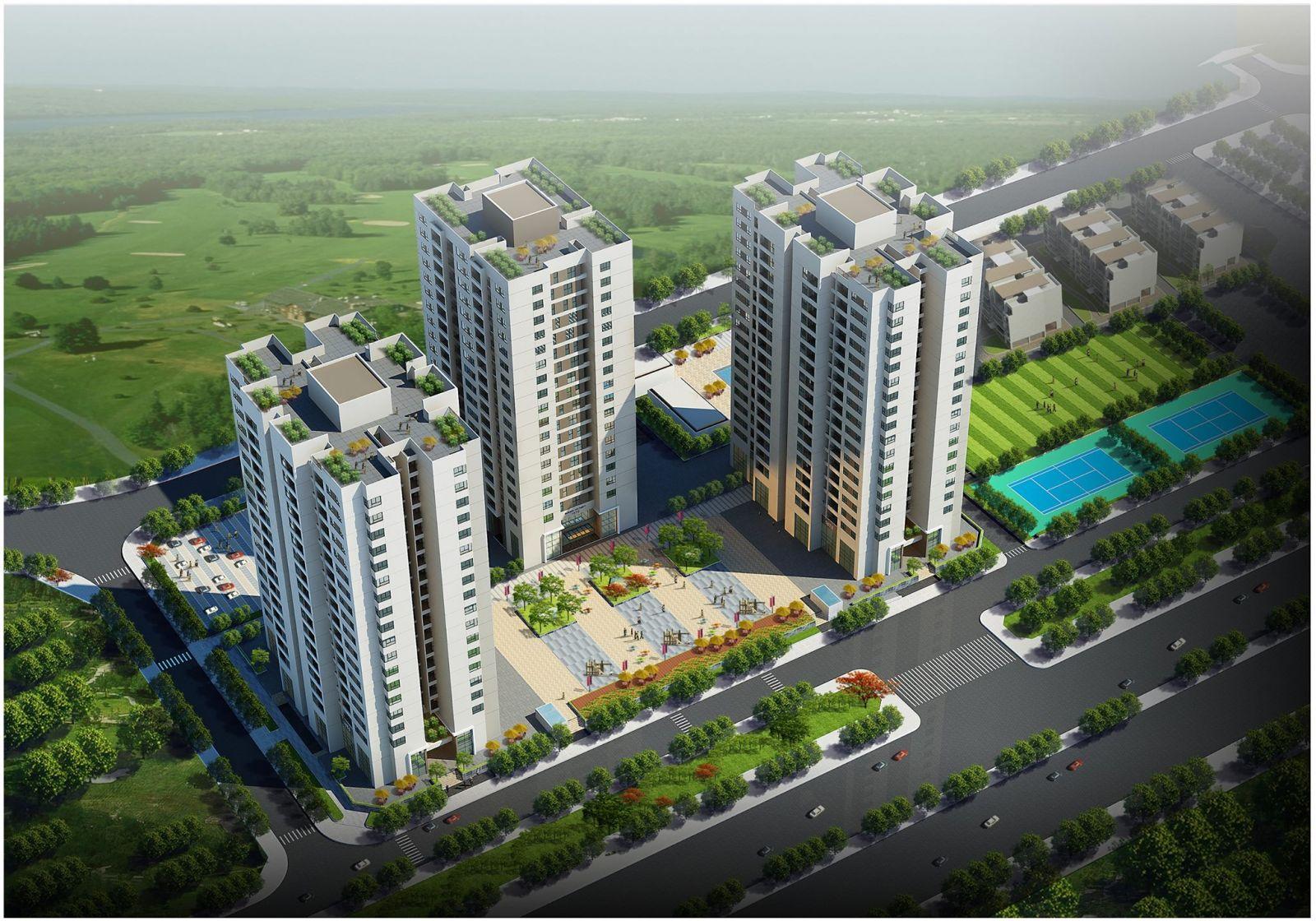 Phối cảnh Dự án Chung cư CT15 Việt Hưng Green Park