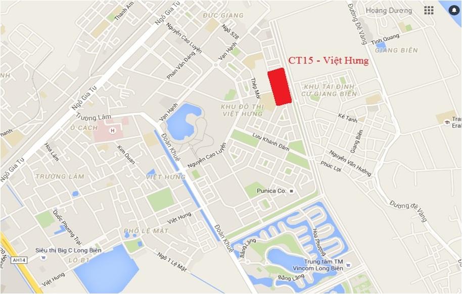 Vị trí đắc địa, Trung tâm KĐT Việt Hưng - Long Biên