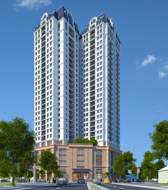 Phối cảnh dự án chung cư Hateco Plaza Huỳnh Thúc Kháng - Đống Đa - Hà Nội